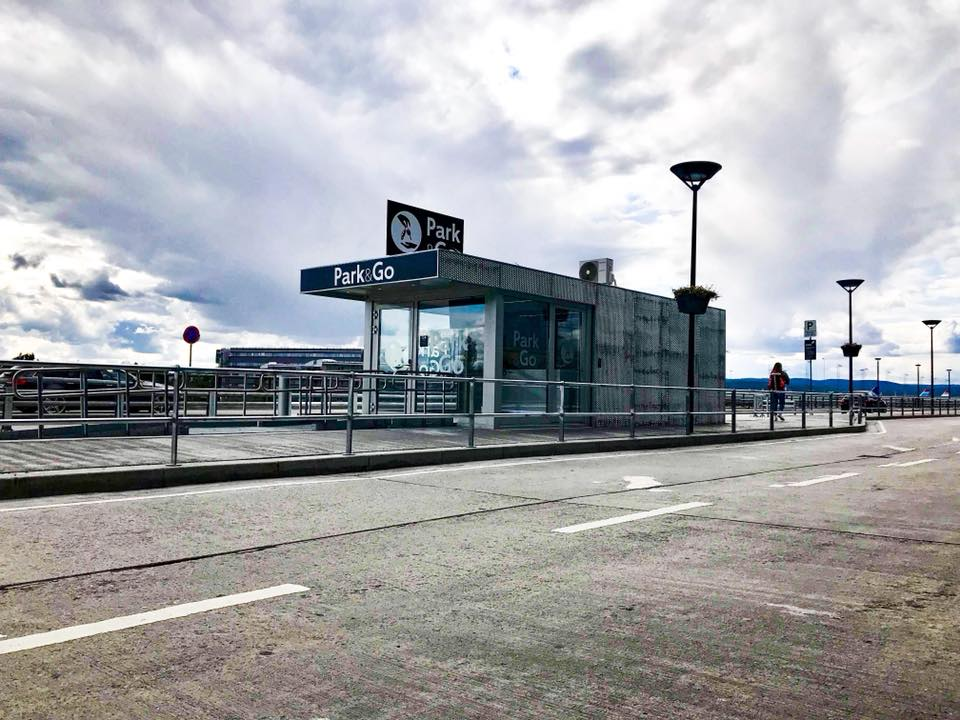 Spesialmodul til Avinor ved avgangshallen på Gardermoen OSL