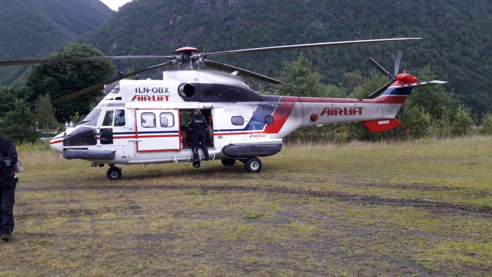 Film: Helikopter-levering av moduler