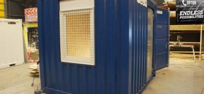 10ft entreprenør container, m/personal dør og vindu