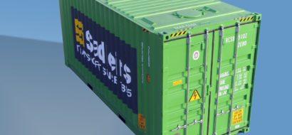 40′ Australsk Innenlands Pallebred Bulkcontainer