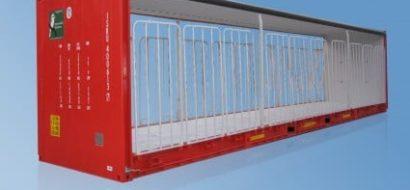 40′ Pallebrede Gardinsideenheter for Tung Belastning