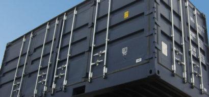 20′ Container med Bakside og Full Tilgang på Begge Sider