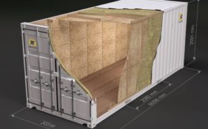 20 ft isolert osb container