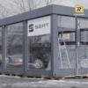 utstilling bygg for bil modul