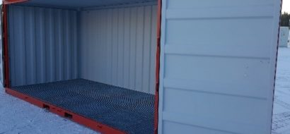 20 ft. Sidedørs miljøcontainer