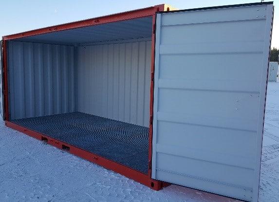 Sidedørs miljøcontainer