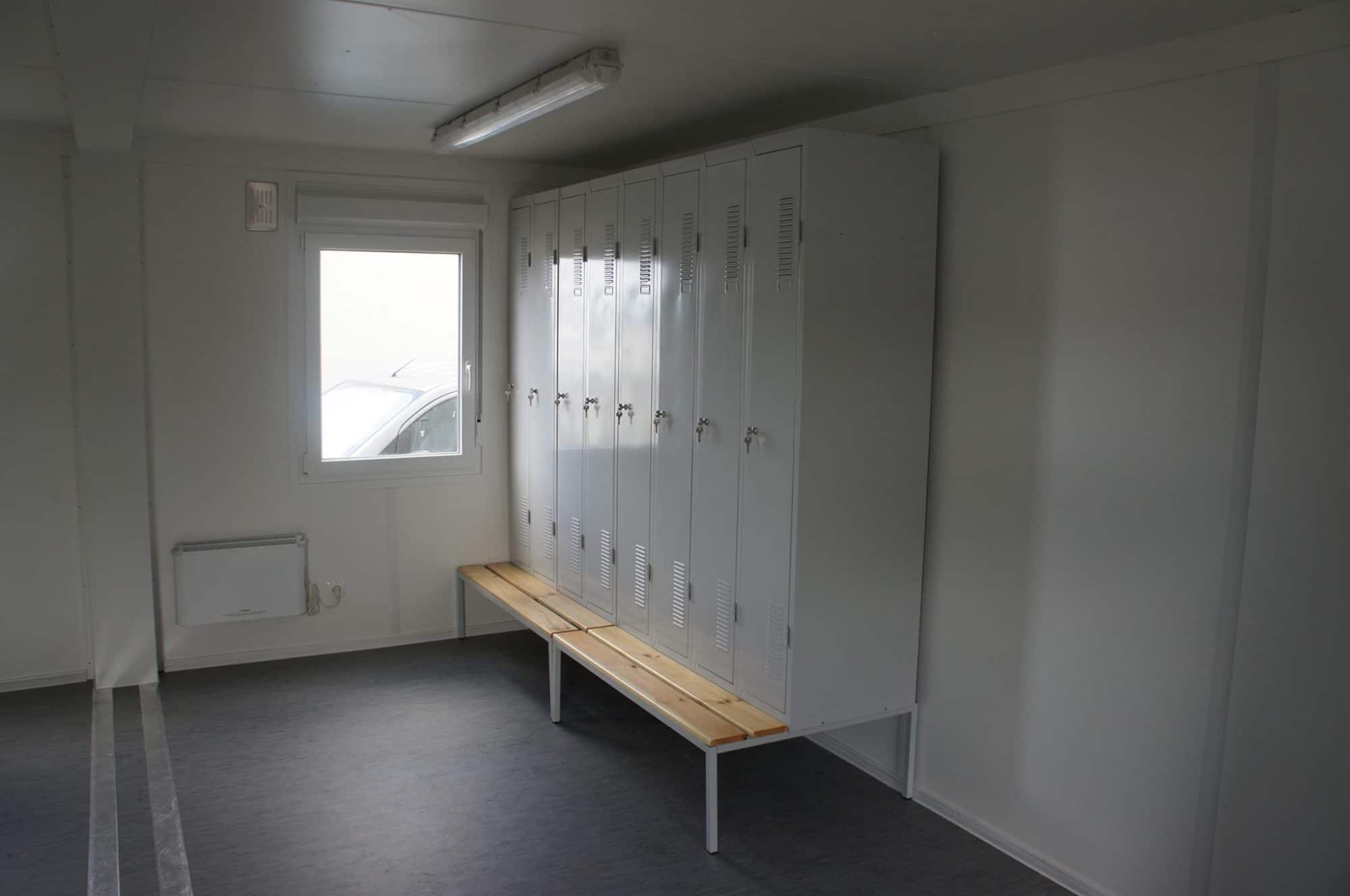 midlertidig garderobe bygg til anlegg og byggeplass