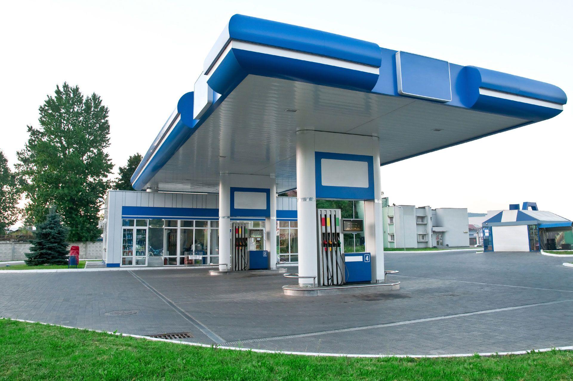 bensinstasjon bygning modulbygg