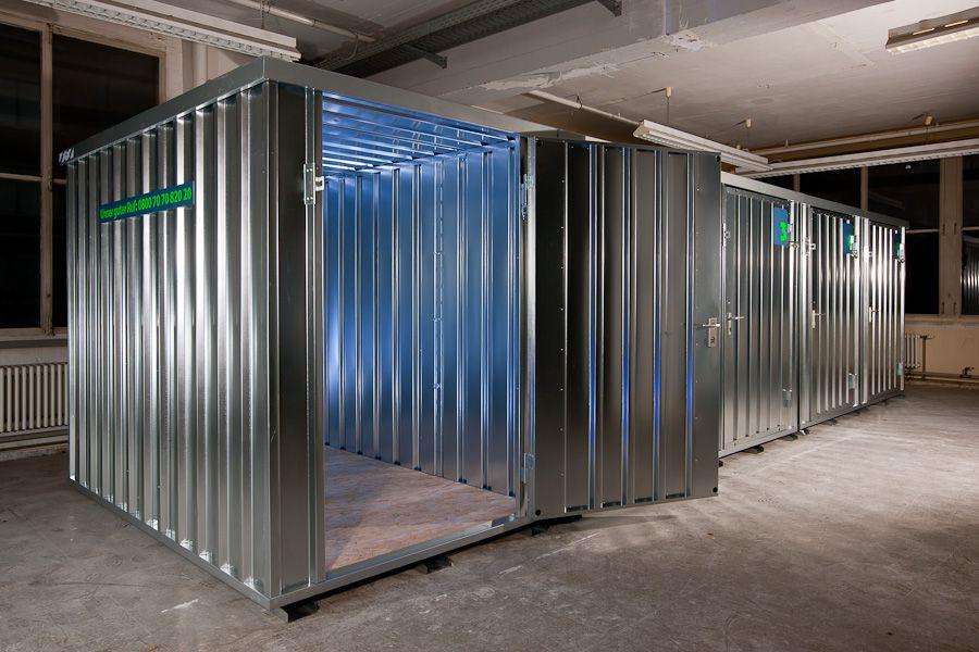 containere til lagerhotell og minilager boder