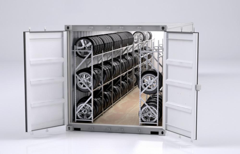 Dekkcontainere til oppbevaring av dekk
